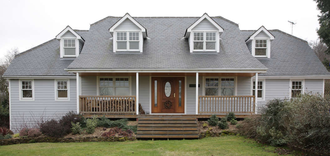 New England style house - front  view